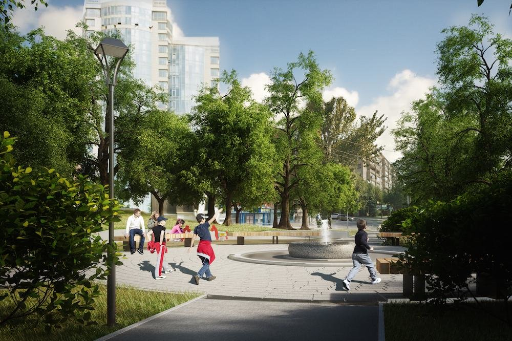 Сквер и «сухой» фонтан хотят сделать на Театральной площади Ростова, фото-8