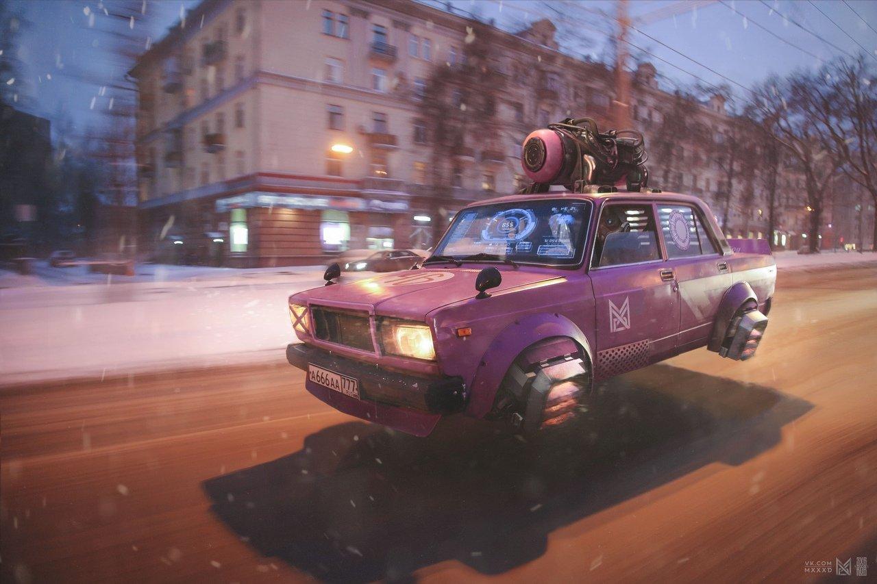 Ростовский художник показал, как будет выглядеть Россия в 2077 году, фото-1, Фото: Евгений Зубков / https://vk.com/4zubkov6