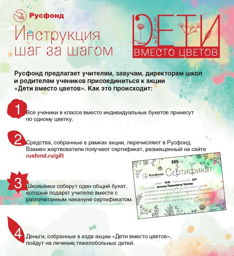 Русфонд пригласил ростовчан присоединиться к всероссийской акции «Дети вместо цветов» , фото-2