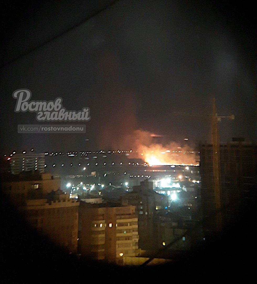 В Ростове произошел ландшафтный пожар на левом берегу Дона, фото-1