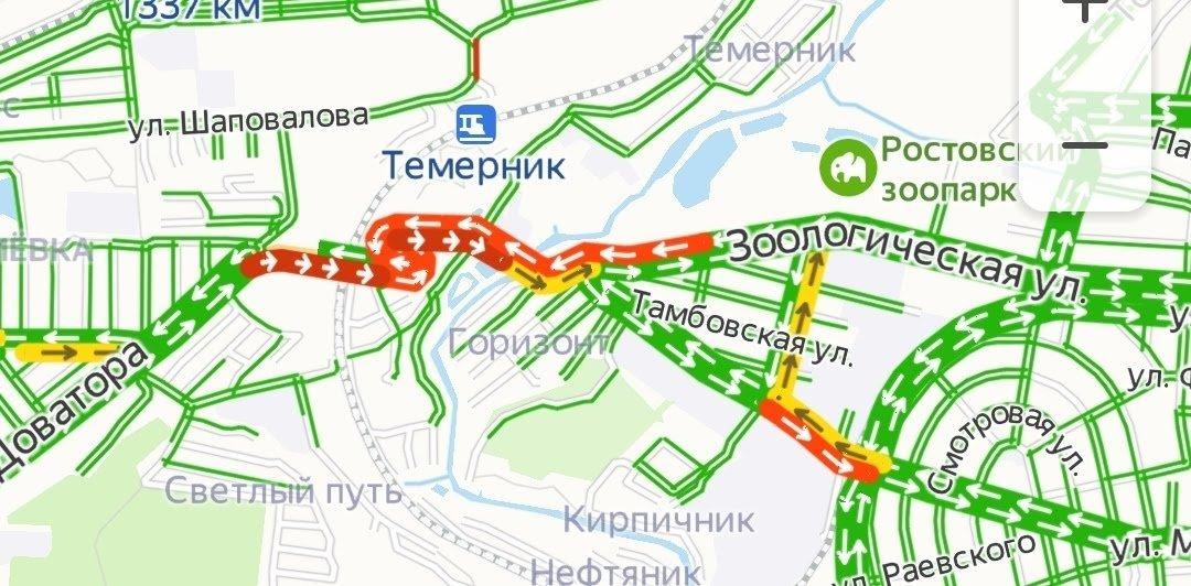 Дорожный ремонт стал причиной единственной пробки в Ростове, фото-1