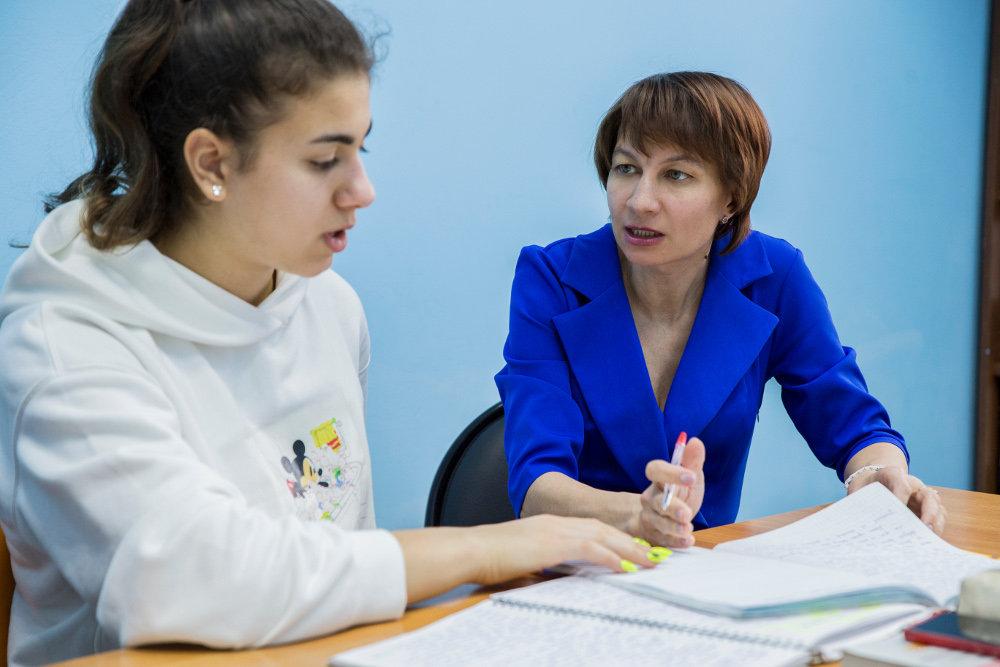 Эмма Родина с ученицей