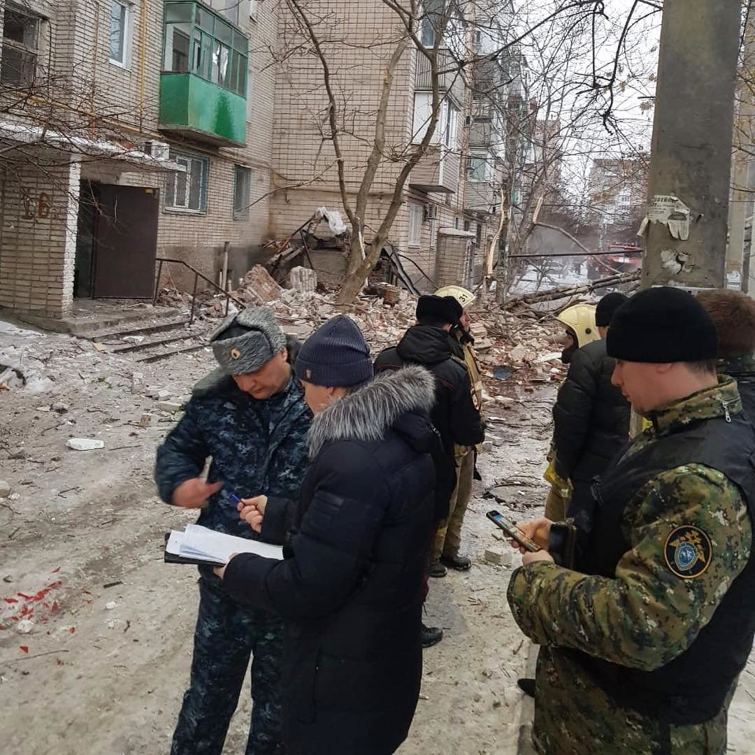 Взрыв в доме полностью уничтожил 9 этаж, Фото - СК РФ