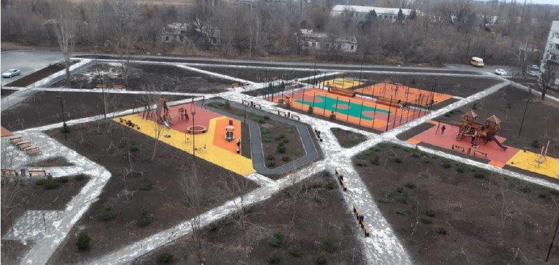 Обустроенный двор, Фото администрации Шахт
