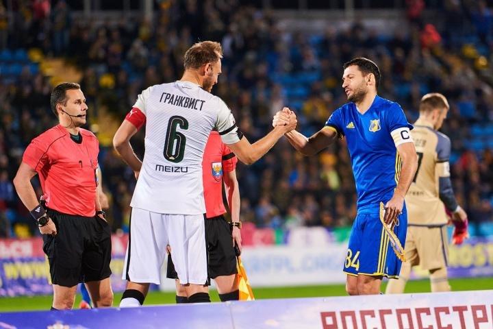 «Ростов» и«Краснодар» сыграли вничью вматче чемпионата Российской Федерации
