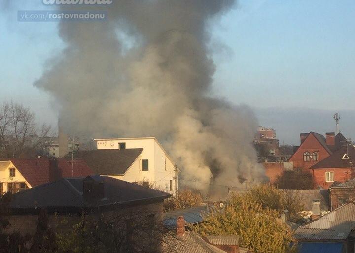 При пожаре  на6-й Линии вцентре Ростова-на-Дону пострадала женщина