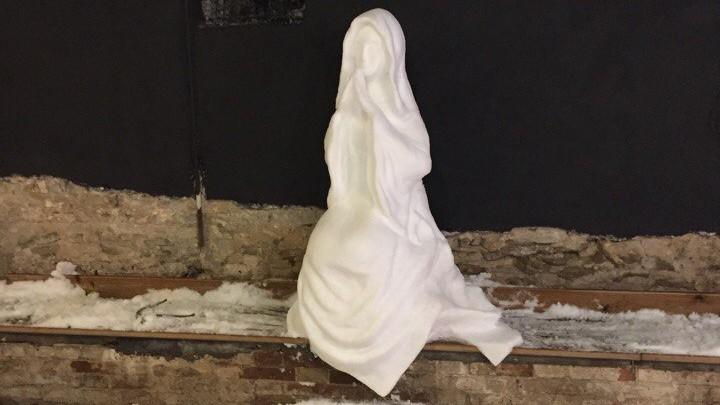 Вгороде возникла уникальная скульптура изснега— Ростовская Мадонна