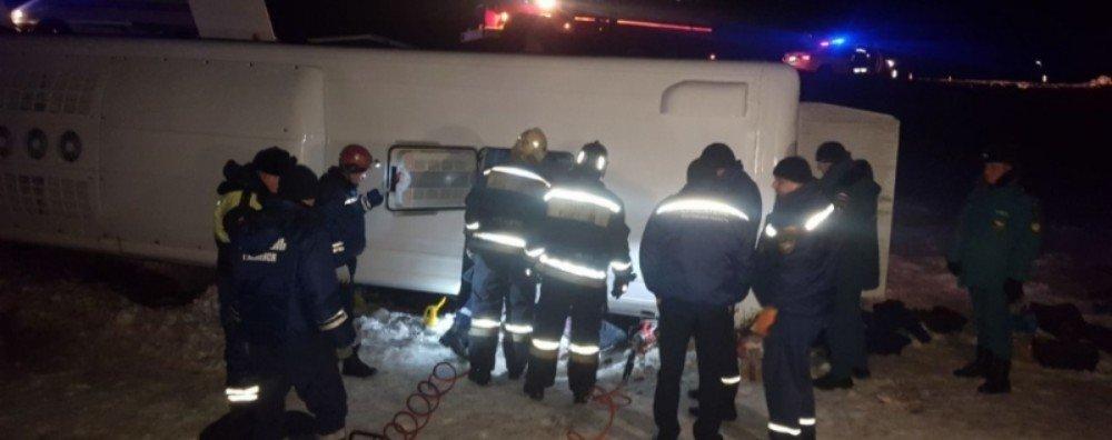 Задержан водитель перевернувшегося в Ростовской области автобуса