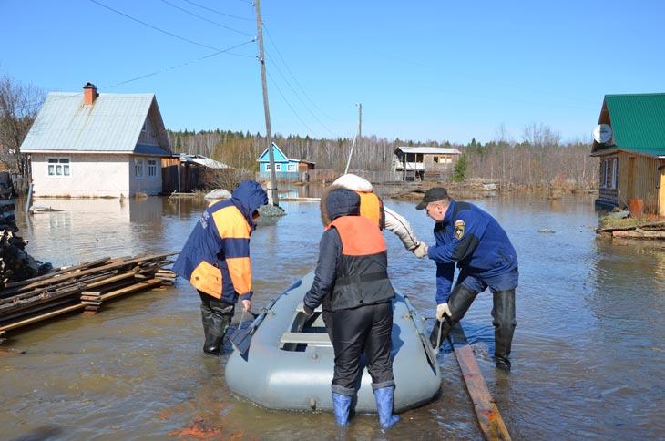 ВРостовской области из-за паводка cотрудники экстренных служб эвакуировали людей и домашних питомцев